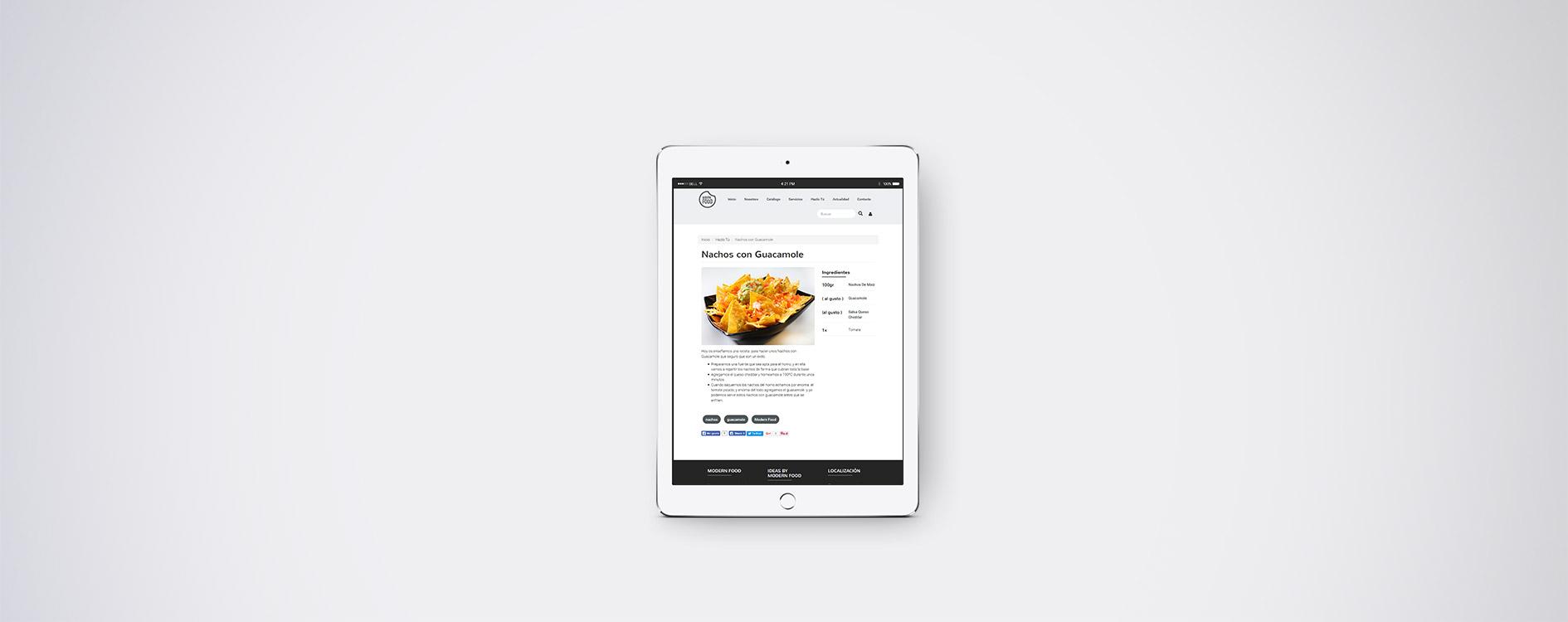 Modern Food - Tablet